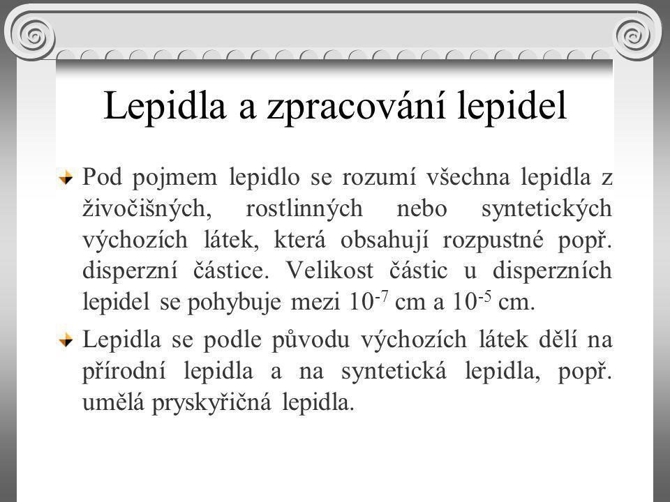 Lepidla a zpracování lepidel Pod pojmem lepidlo se rozumí všechna lepidla z živočišných, rostlinných nebo syntetických výchozích látek, která obsahují rozpustné popř.