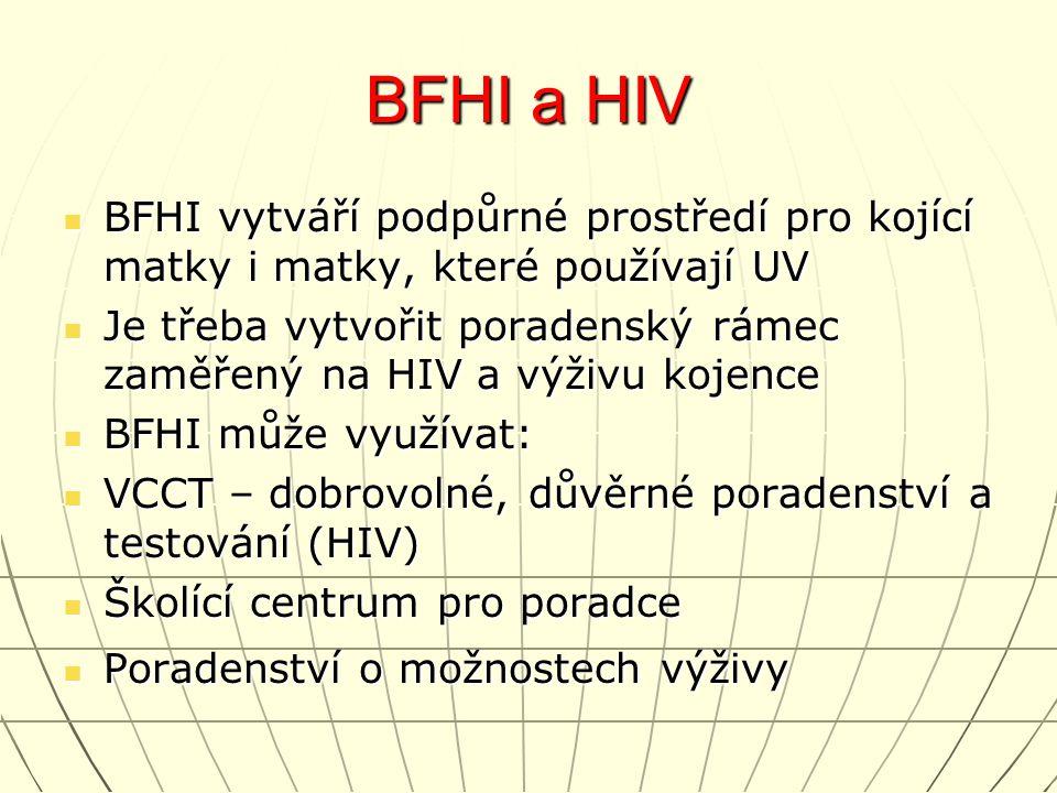 BFHI a HIV BFHI vytváří podpůrné prostředí pro kojící matky i matky, které používají UV BFHI vytváří podpůrné prostředí pro kojící matky i matky, kter