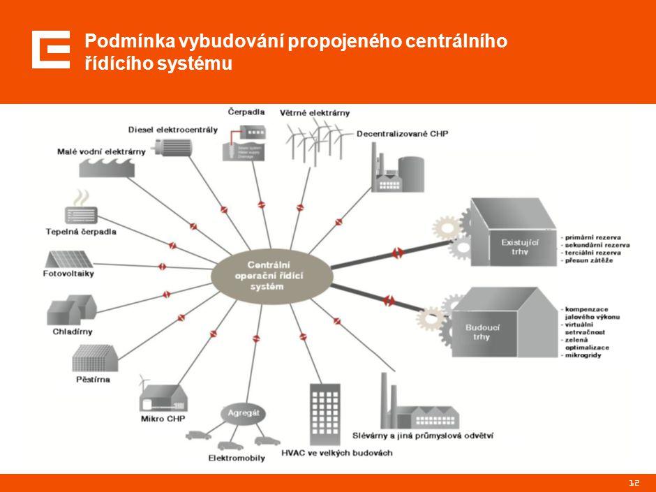 Podmínka vybudování propojeného centrálního řídícího systému 12