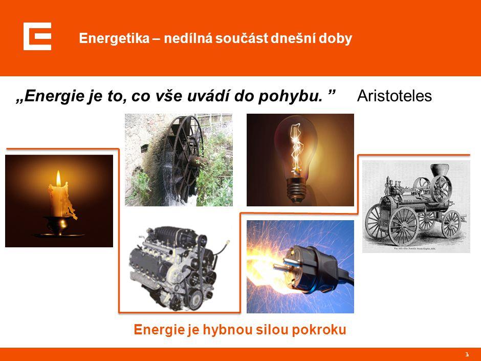 """Energetika – nedílná součást dnešní doby 1 """"Energie je to, co vše uvádí do pohybu."""