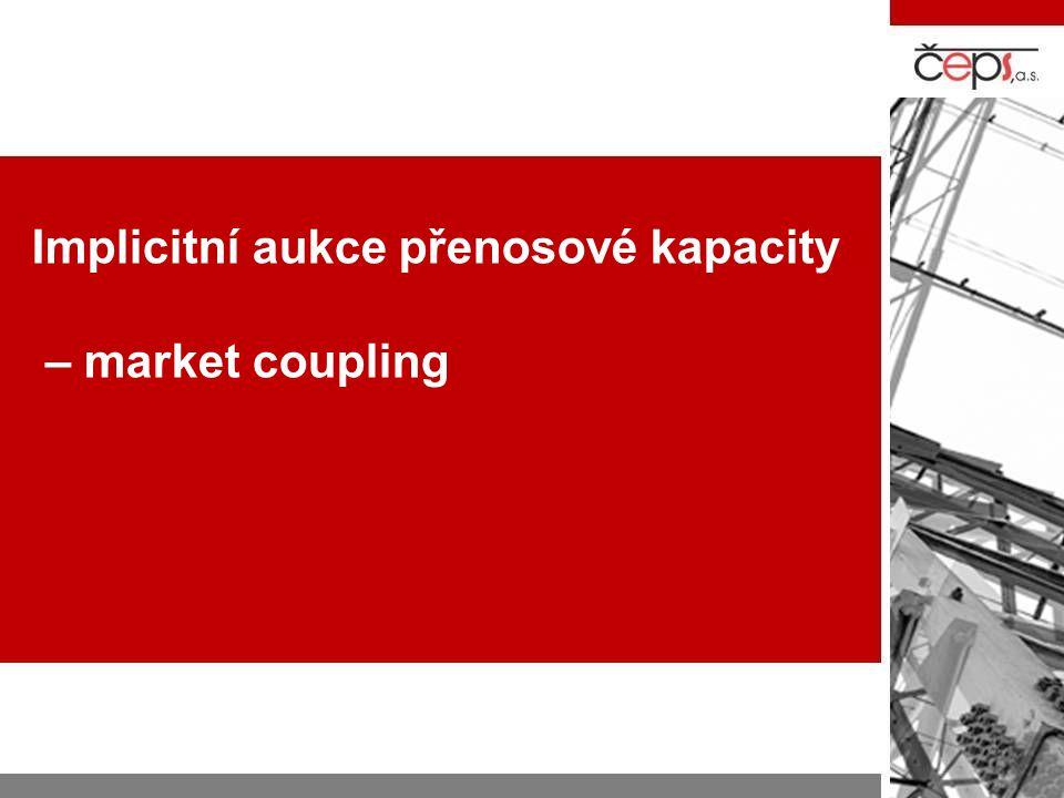 Možné modely propojení trhů  Market Splitting –jedno tržní místo přijímá nabídky a poptávky z více cenových oblast –Pokud nedojde k vy,čerpání fyzické možnosti přenosových cest, pak tržní místo generuje jednu cenu –Pokud dojde k vyčerpání přenosové kapacity, pak se trhy rozdělí na cenové oblasti  Market Coupling: –pro každou cenovou oblast funkční tržní míst –centrální kancelář, která provede sesouhlasení nabídek ze všech tržních míst a následné rozdělení zobchodovaného množství mezi jednotlivé cenové oblasti, případně stanovení cen pro jednotlivé cenové oblasti  Price / Volume based