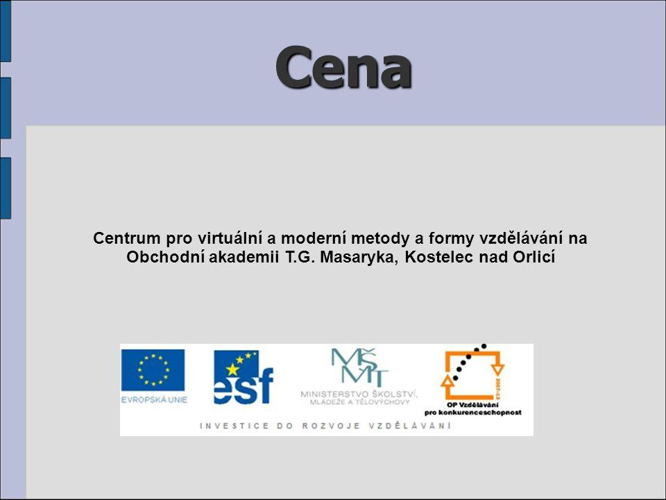 Cena Centrum pro virtuální a moderní metody a formy vzdělávání na Obchodní akademii T.G.