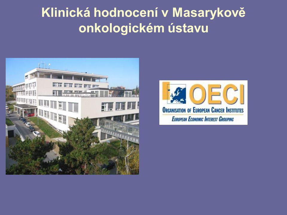 Klinická hodnocení v Masarykově onkologickém ústavu  MUDr. Regina Demlová,