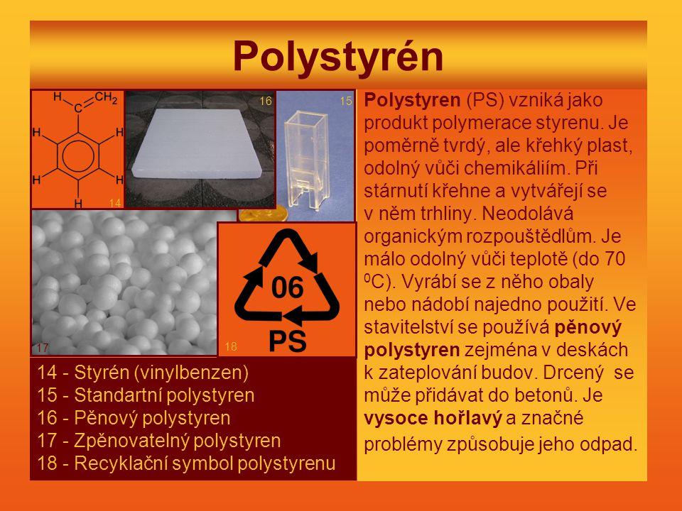 Polystyrén Polystyren (PS) vzniká jako produkt polymerace styrenu.