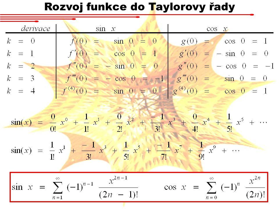 Rozvoj funkce do Taylorovy řady