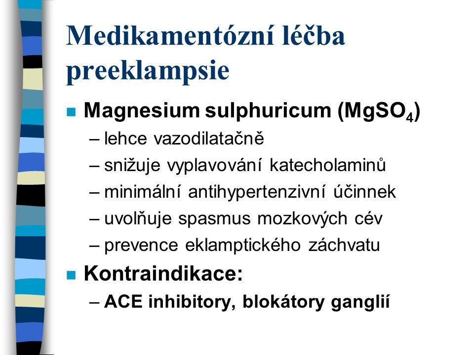 Intenzivní terapie při těžké formě n Nepresol 25 - 5O mg v infuzi i.v.