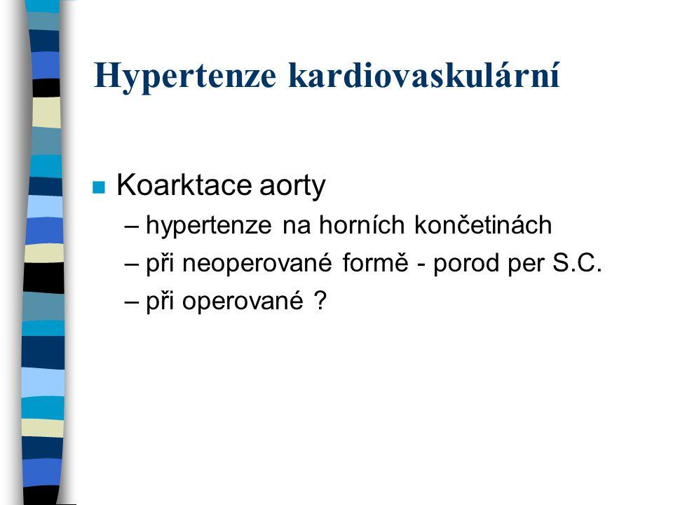 Preeklampsie superponovaná na chronickou hypertenzi n Výskyt příznaků preeklampsie u pac.