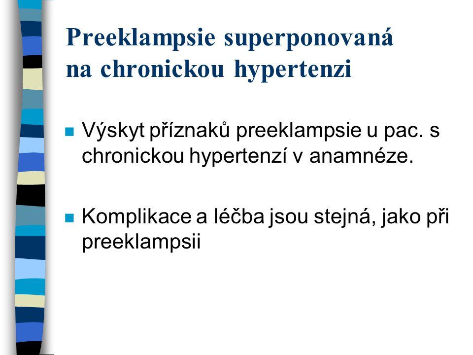 Dispenzarizace hypertenze v těhotenství n gynekolog n internista n poradna pro riziková těhotenství –specializovaná poradna pro hypertenze v těhotenství n perinatologické centrum