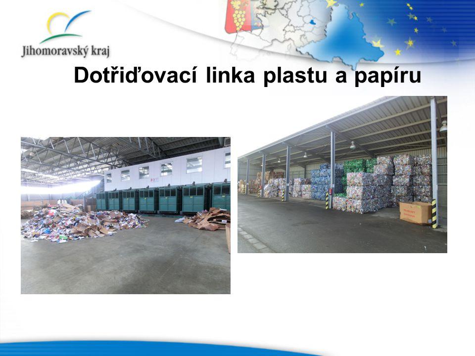 Dotřiďovací linka plastu a papíru
