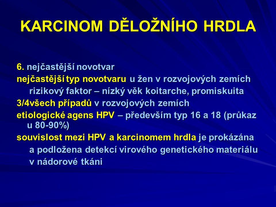 KARCINOM DĚLOŽNÍHO HRDLA 6.