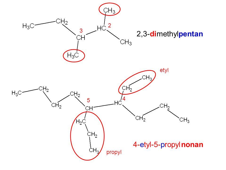 Utvořte vzorce a namodelujte: 1)3,3-dimetylhexan 2)4,5-dietyl-2-metylheptan