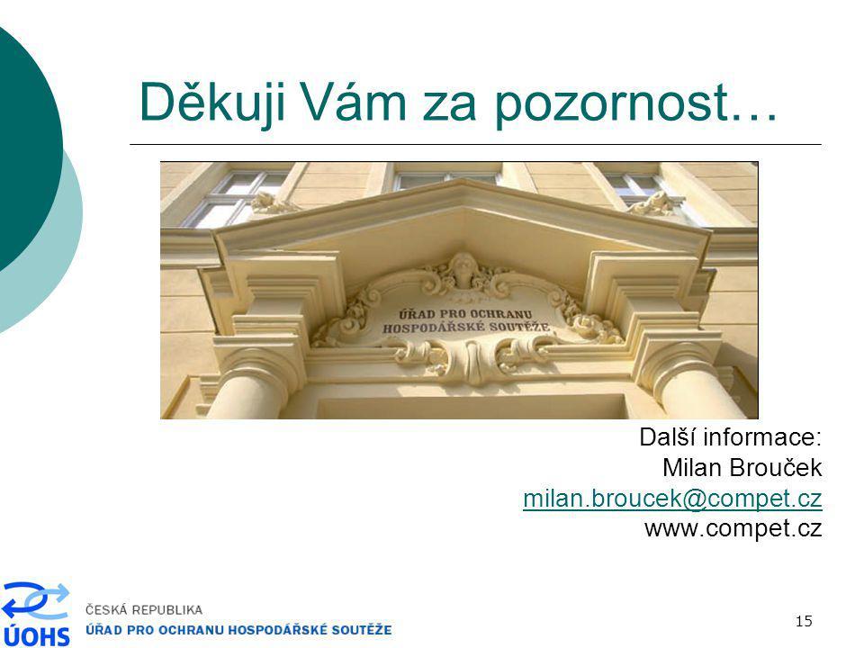 15 Děkuji Vám za pozornost… Další informace: Milan Brouček milan.broucek@compet.cz www.compet.cz