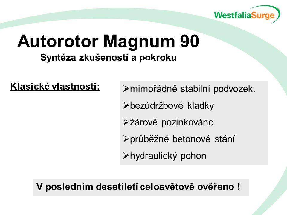 Autorotor Magnum 90 Syntéza zkušeností a pokroku Klasické vlastnosti:  mimořádně stabilní podvozek.