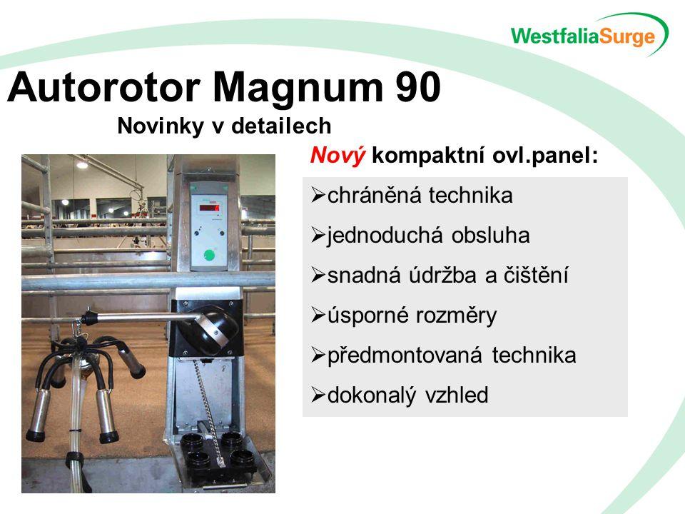 Autorotor Magnum 90 Novinky v detailech Nový kompaktní ovl.panel:  chráněná technika  jednoduchá obsluha  snadná údržba a čištění  úsporné rozměry  předmontovaná technika  dokonalý vzhled