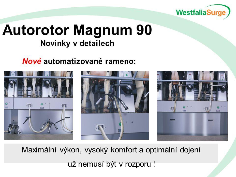 Autorotor Magnum 90 Novinky v detailech Nové automatizované rameno: Maximální výkon, vysoký komfort a optimální dojení už nemusí být v rozporu !