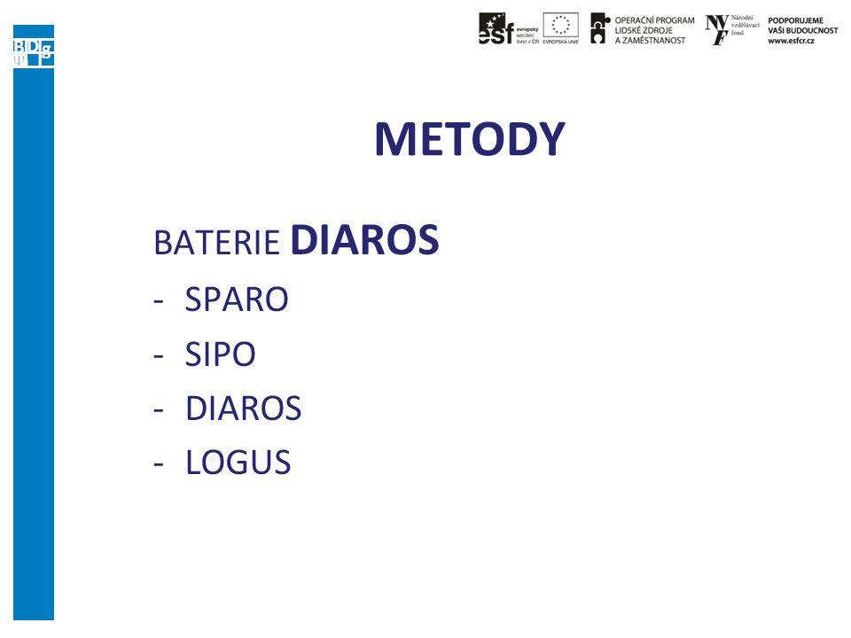 METODY BATERIE DIAROS -SPARO -SIPO -DIAROS -LOGUS