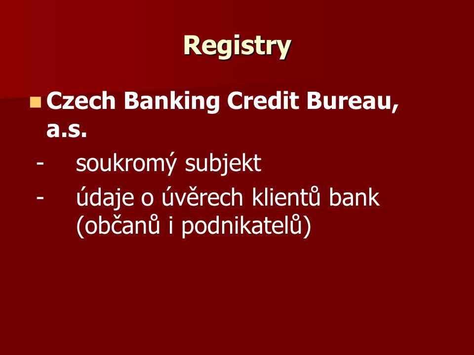 Registry Czech Banking Credit Bureau, a.s.