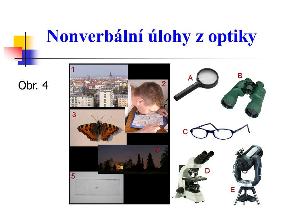 Nonverbální úlohy z optiky Obr. 4