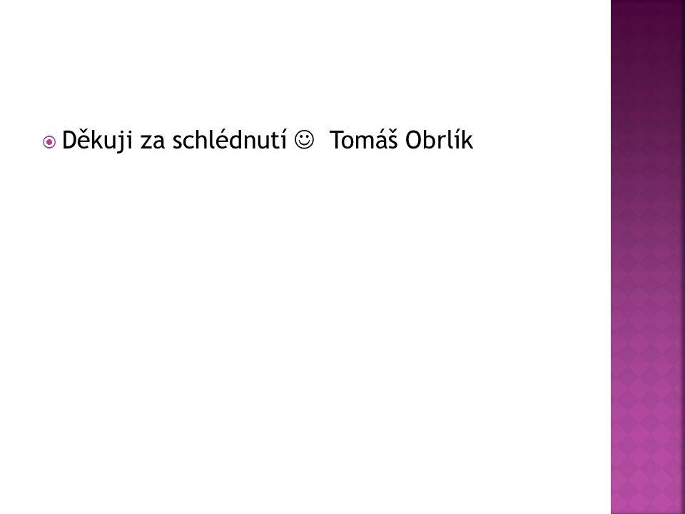  Děkuji za schlédnutí Tomáš Obrlík