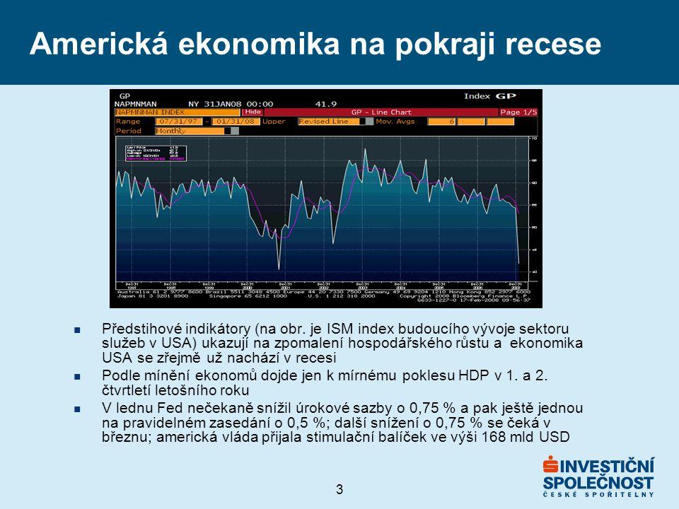 3 Americká ekonomika na pokraji recese n Předstihové indikátory (na obr.