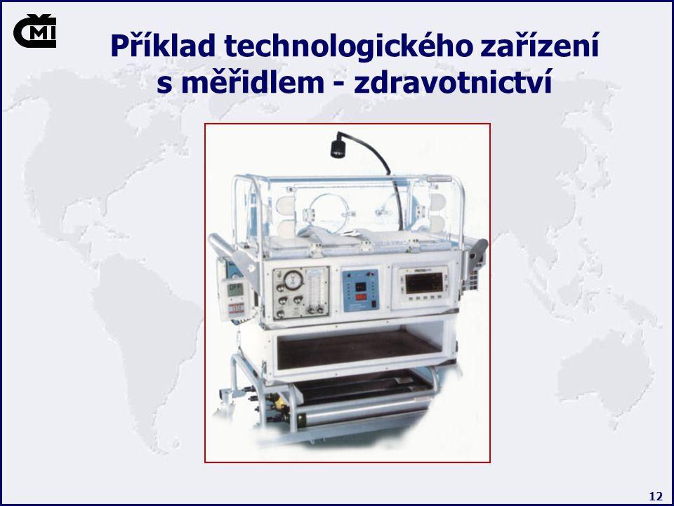 12 Příklad technologického zařízení s měřidlem - zdravotnictví