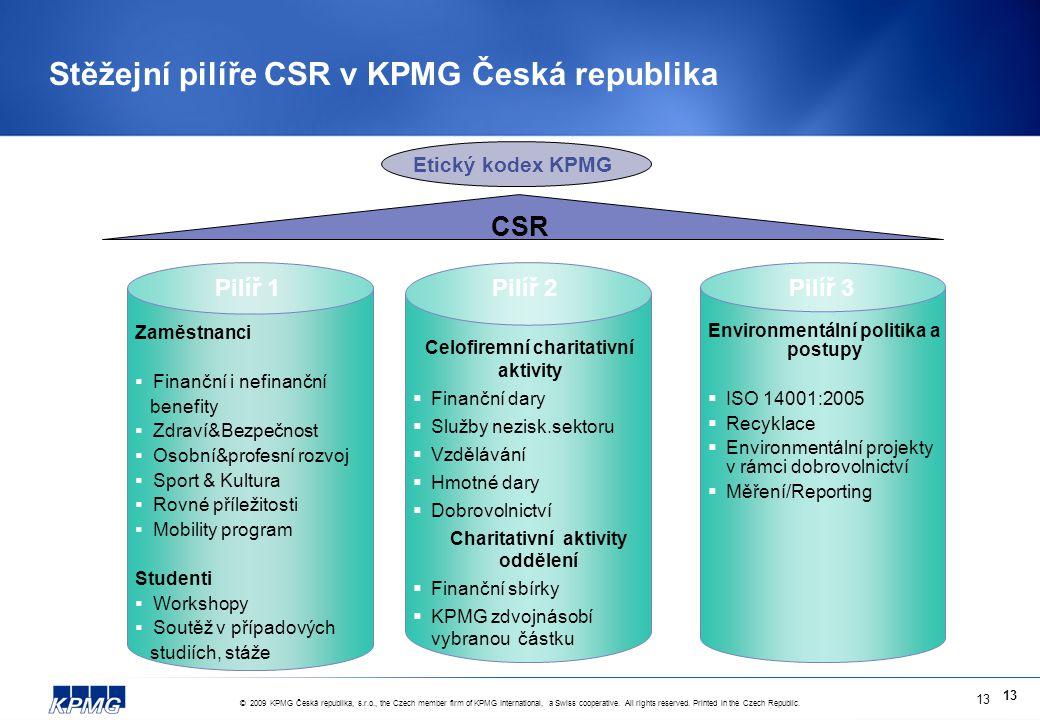© 2009 KPMG Česká republika, s.r.o., the Czech member firm of KPMG International, a Swiss cooperative.