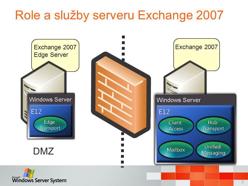 3 Topologie serverů Exchange 2007