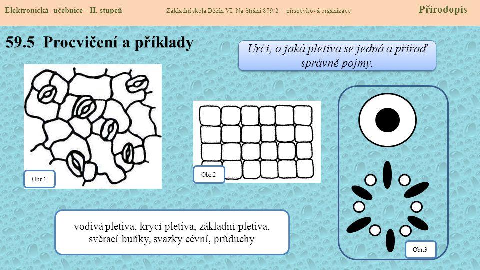 59.5 Procvičení a příklady Elektronická učebnice - II.