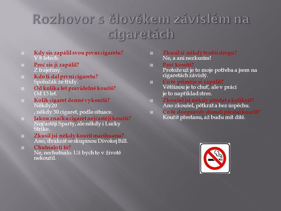  Pasivní kouření nastává, když kouř jedné osoby kouřící tabákové výrobky je vdechováno jinými.