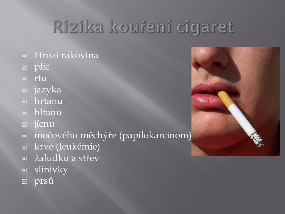  lepší zvládnutí stresu  dokáže zlepšit stav schizofrenie  bylo prokázáno, že ženy kouřící mají menší množství karcinomu (rakoviny) endometria (tj.