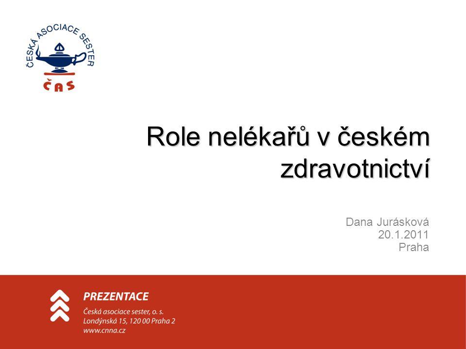 Role nelékařů v českém zdravotnictví Dana Jurásková 20.1.2011 Praha