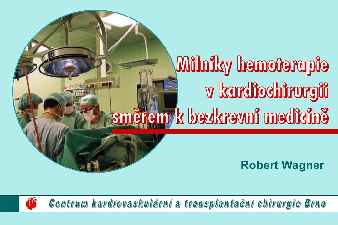 Peroperační spotřeba ERYj. v kardiochirurgii Brno 195019601970198019902000