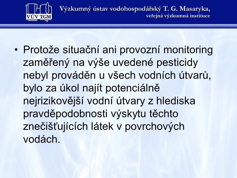 ZÁVĚRY Mezi potencionálně nejrizikovějšími vodními útvary v povodí Odry na území České republiky z hlediska možného dopadu aplikovaného množství uvedených šestnácti účinných látek pesticidů nedošlo v roce 2008 oproti roku 2007 k výrazné změně pořadí.