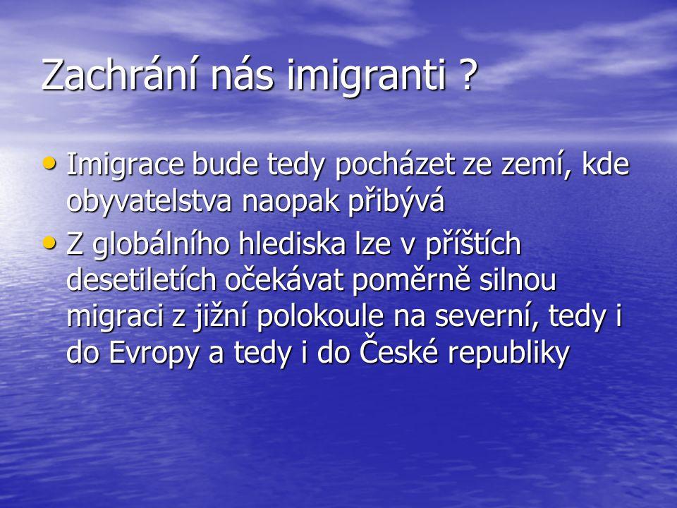 Zachrání nás imigranti .