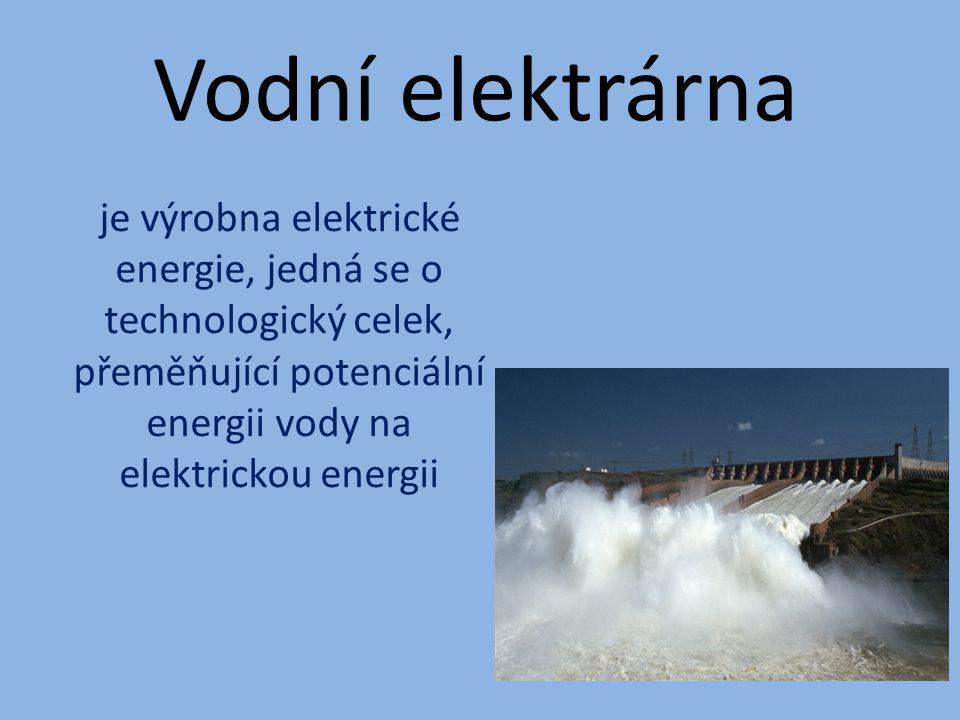 Přečerpávající elektrárny v ČR Černé jezero Štěchovice II Dalešice Dlouhé Stráně I