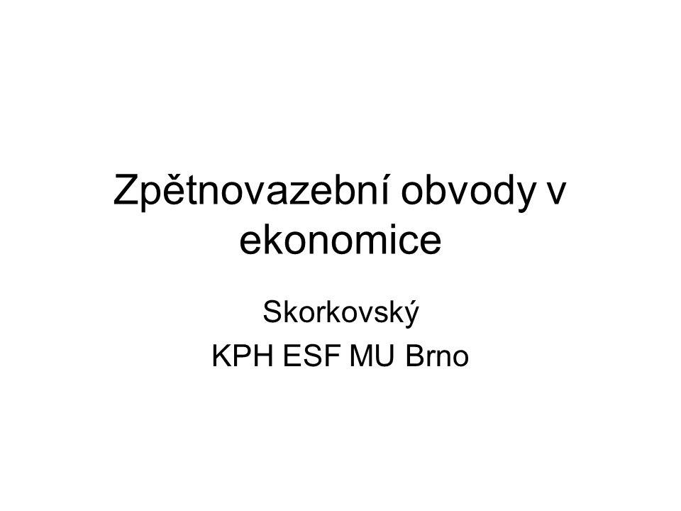 Zpětnovazební obvody v ekonomice Skorkovský KPH ESF MU Brno