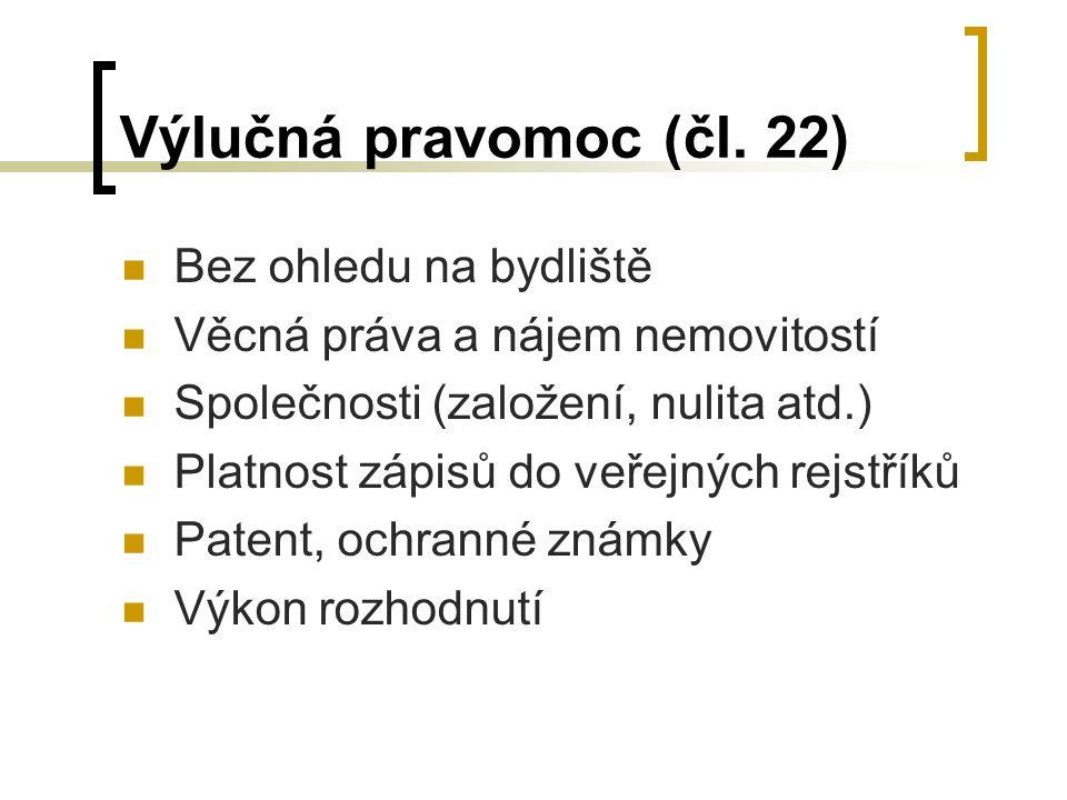 Výlučná pravomoc (čl.
