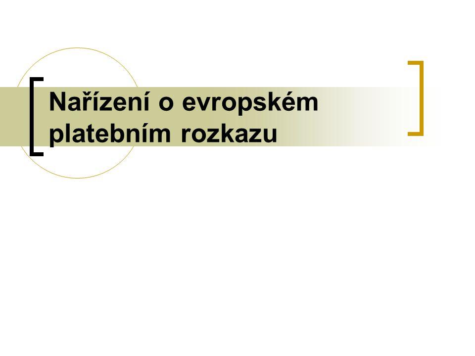 Nařízení o evropském platebním rozkazu