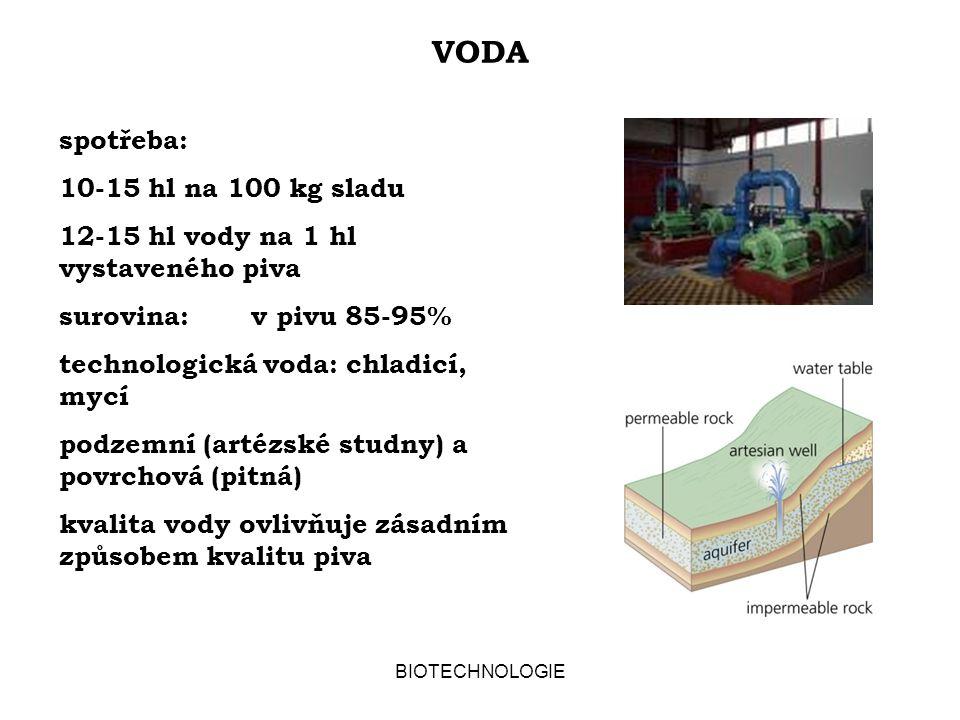 BIOTECHNOLOGIE PIVO JAKO POTRAVINA ALKOHOLICKÝ NÁPOJ: OD 0,5% (V/V) ETHANOLU LEHKÉ PIVO: S NIŽŠÍ STUPŇOVITOSTÍ RADLER: SMĚS PIVA A OVOCNÉ LIMONÁDY, OBVYKLE NIŽŠÍ OBSAH ALKOHOLU PŘÍZNIVÉ VLASTNOSTI PIVA: VITAMÍNY ŘADY B, VYVÁŽENÝ OBSAH Na + /K + ENERGETICKÝ OBSAH: 1500-1800 Kj/l TLOUSTNUTÍ PŘI VYŠŠÍ KONZUMACI ZPŮSOBUJE VYSOKÝ ENERGETICKÝ PŘÍJEM A NEVYVÁŽENÁ STRAVA