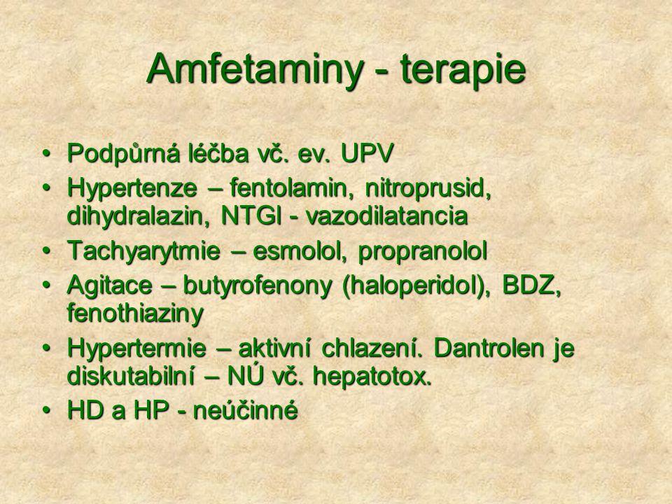 Amfetaminy - terapie Podpůrná léčba vč.ev. UPVPodpůrná léčba vč.