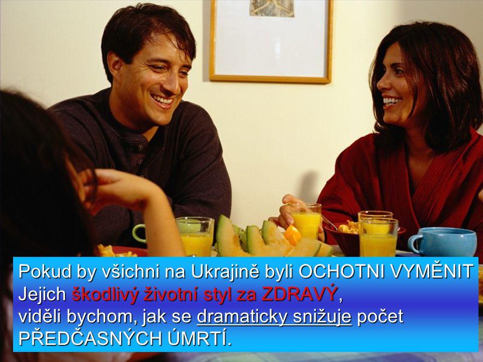 Pokud by všichni na Ukrajině byli OCHOTNI VYMĚNIT Jejich škodlivý životní styl za ZDRAVÝ, viděli bychom, jak se dramaticky snižuje počet PŘEDČASNÝCH ÚMRTÍ.