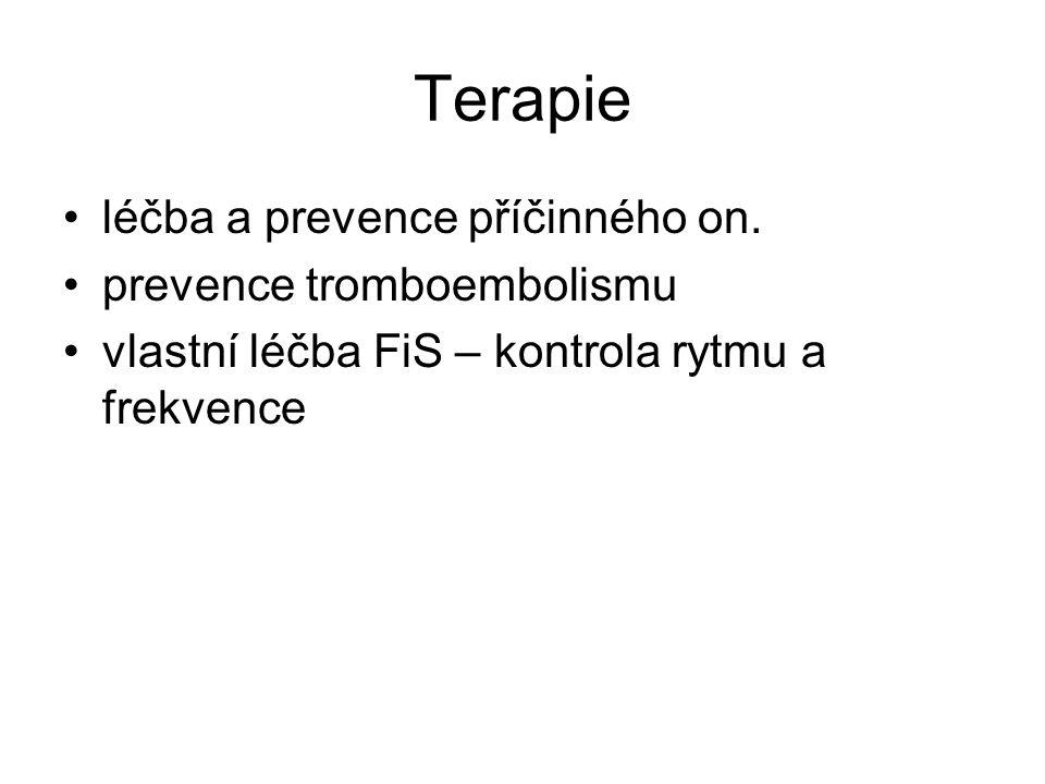 Terapie léčba a prevence příčinného on.
