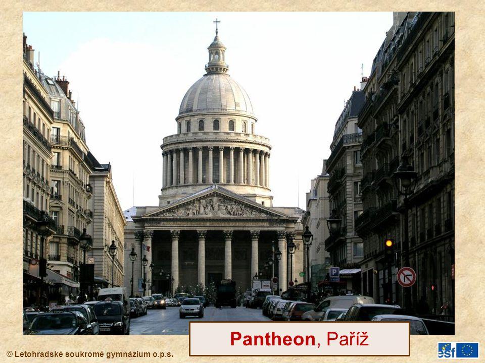 © Letohradské soukromé gymnázium o.p.s. Pantheon, Paříž