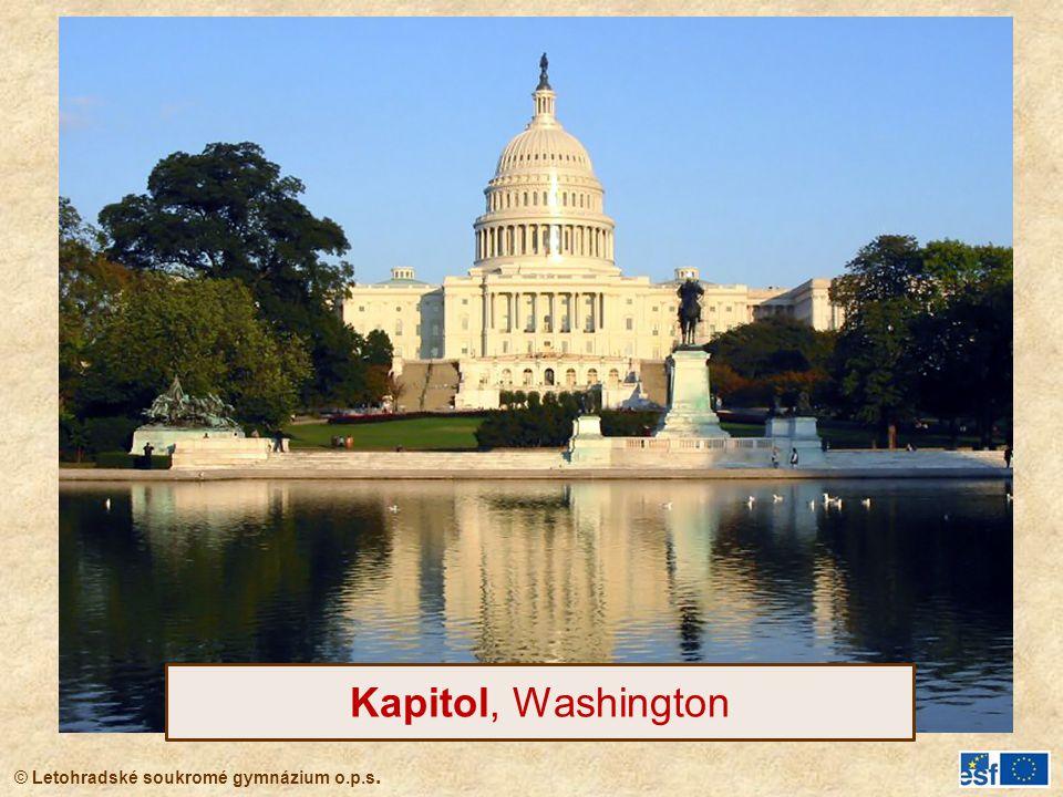 © Letohradské soukromé gymnázium o.p.s. Kapitol, Washington