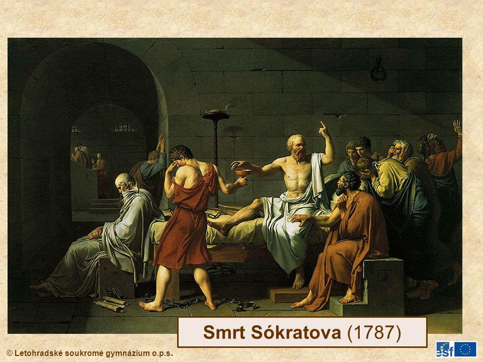 © Letohradské soukromé gymnázium o.p.s. Smrt Sókratova (1787)