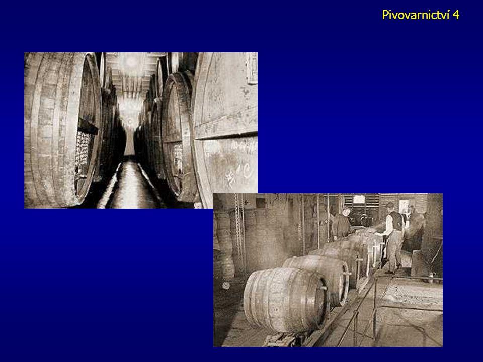 Pivovarnictví 1 Dokvašování a zrání mladého piva - v ležáckém sklepě v uzavřených ležáckých tancích - pozvolné dokvášení piva při teplotách 1 - 3 0 C