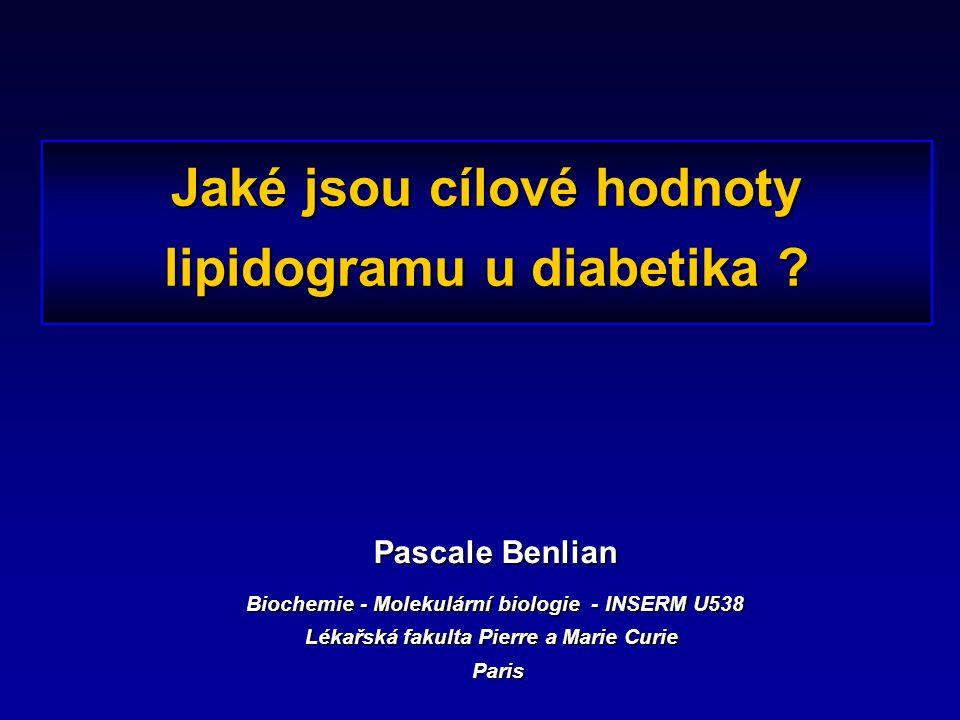 Jaké jsou cílové hodnoty lipidogramu u diabetika .