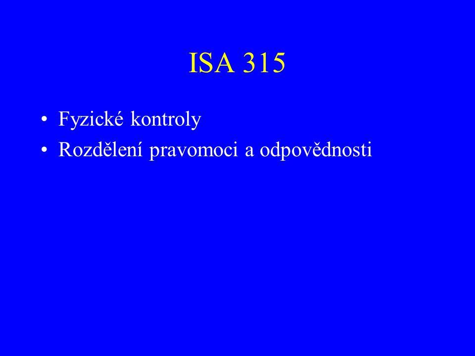 ISA 315 Monitorování kontrol.