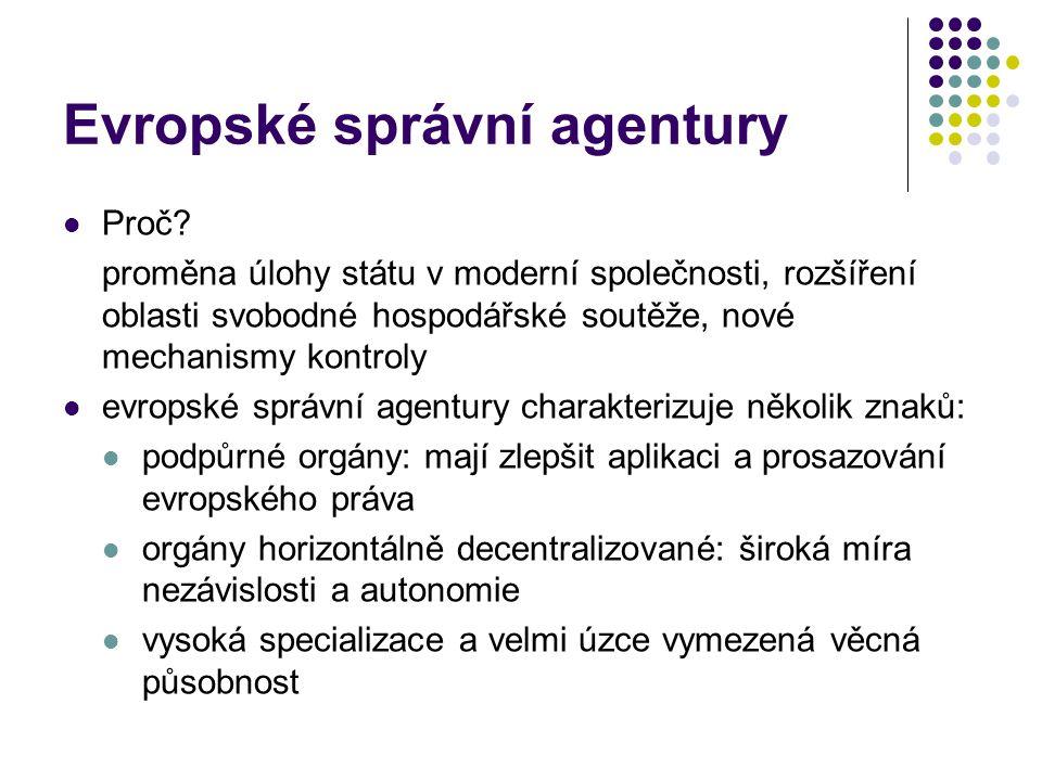 Evropské správní agentury Proč.