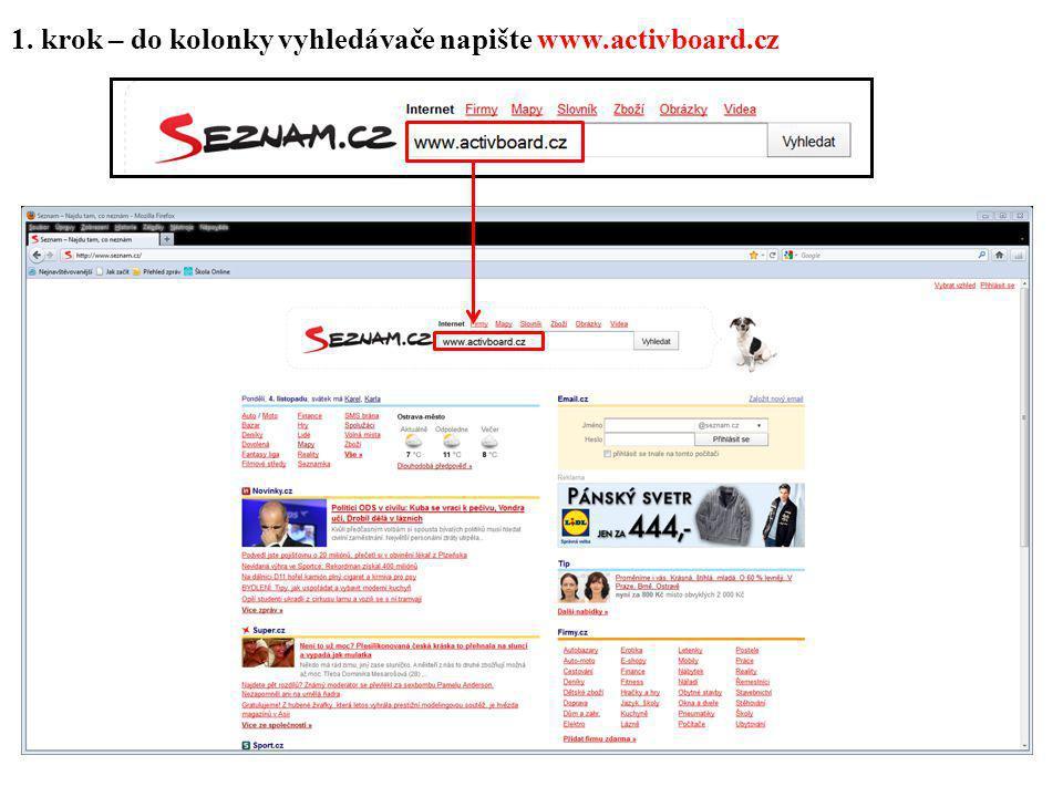 2. krok – klikněte na odkaz Activportal - Aktuality